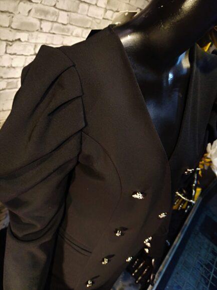 vestido-negro-manga-farol-detalles-botones-dorados-corto-sexy-elegante-barato-rebajas-pilm