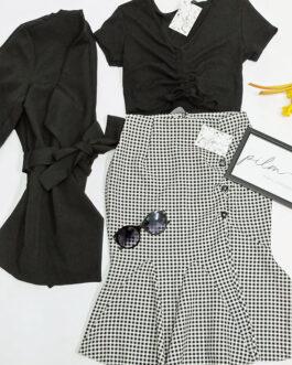 Falda cuadro vichy