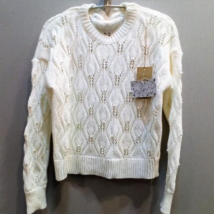 jersey perlas blanco cuello caja corte regular low cost