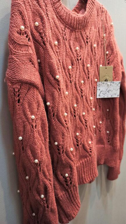 jersey perlas teja cuello caja corte regular low cost