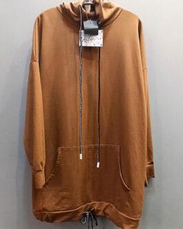 Sudadera larga capucha