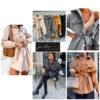 abrigo pañete camisero con cinturón cuello solapa y bolsillos tapetas
