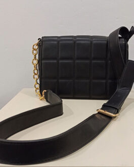 Bolso acolchado negro