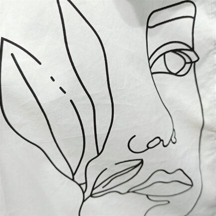 camisa blanca popelin rostro manga larga y cuello rigido low cost