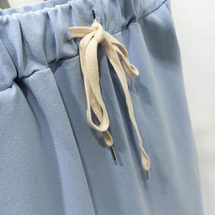 falda sport tubo celeste cintura goma fruncida