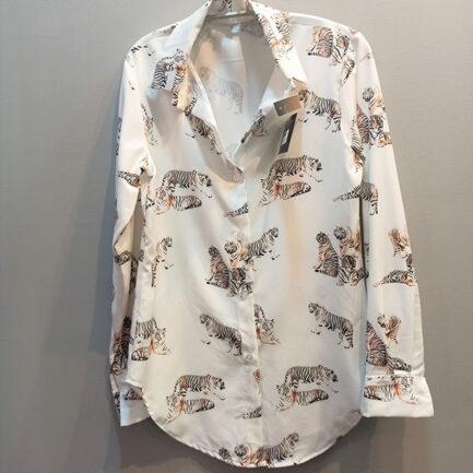 camisa manga larga mujer estampado tigre