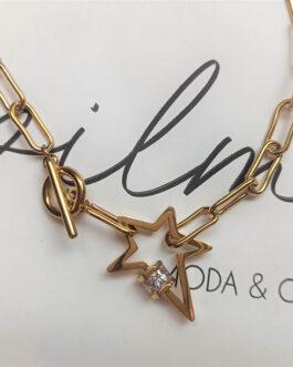 Colgante acero cadena estrella