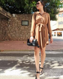 Vestido camel Roma