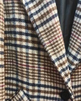 Abrigo cuadros escoceses